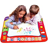 Voberry®Children's Aqua Doodle Drawing Toys Mat Magic Pen Educational Toy 1 Mat+ 2 Water Drawing Pen