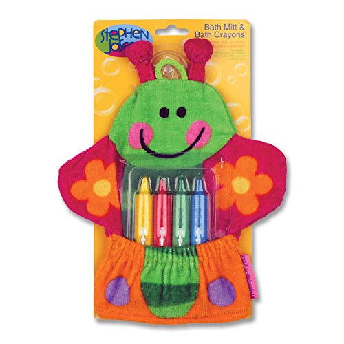 Stephen Joseph Bath Mitt and Crayons Butterfly, Multi
