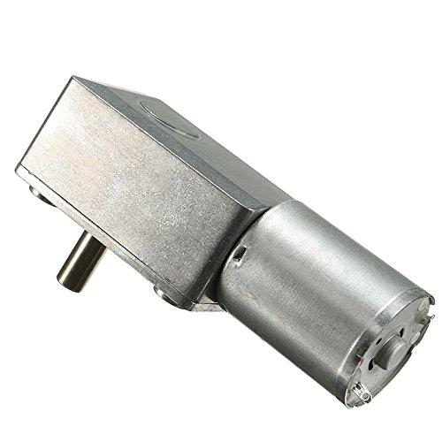 Alcoa Prime DC 12V 2~3W Low Speed 0. 6RPM/Min High Torque Turbo Worm Geared Motor 370 Motor 80x32x21mm