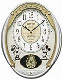 セイコークロック Disney (ディズニータイム) 掛け時計 ミッキー&フレンズ 電波時計 ツイン・パ FW567W