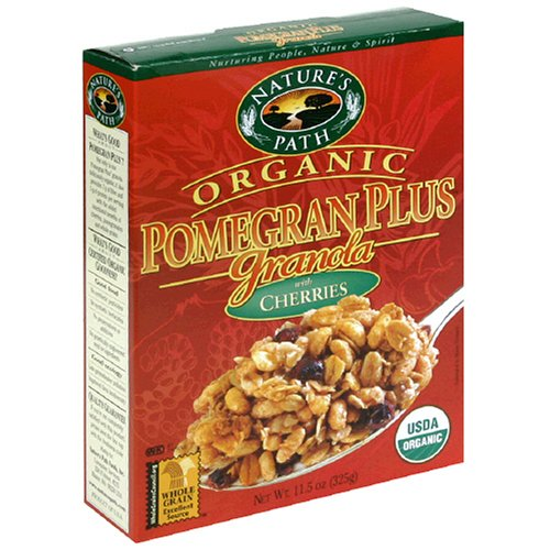 Buy Nature's Path Organic Pomegran Plus Granola with Cherries, 11.5-Ounce Box (Pack of 6) (Nature's Path, Health & Personal Care, Products, Food & Snacks, Breakfast Foods, Cereals)