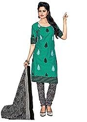 RK Fashion Blue Colour Cotton Unstitched Dress Material (CHANDANI1044-Blue-Free Size)