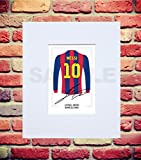 MOUNTED LIONEL MESSI BARCELONA SIGNED 10X8 INCH MOUNT WITH PRINTED AUTOGRAPH PHOTO PRINT PHOTOGRAPH AUTOGRAPHED POSTER JERSEY SHIRT GIFT PRESENT XMAS CHRISTMAS BIRTHDAY