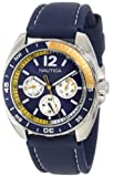 Nautica Mens N09915G Sport Ring Multifunction Blue and Yellow Box Set Watch