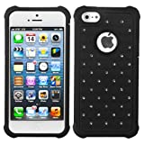 Product B009NR67K8 - Product title MYBAT AIPHONE5HPCTDEF201NP Luxurious Lattice Dazzling Total Defense Dual Layer Protective Cover for iPhone 5 / iPhone 5S - 1 Pack - Retail Packaging - Black