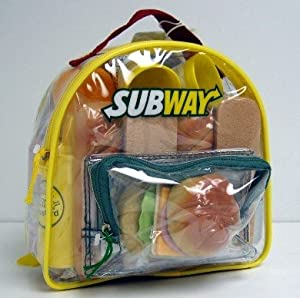 Amazon.com: SUBWAY Backpack 35 Piece Play Food Set: Toys & Games