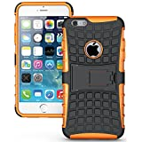 Heartly Flip Kick Stand Spider Hard Dual Rugged Armor Hybrid Bumper Back Case Cover For Apple iPhone 6 Plus 5.5 inch / Apple iPhone 6S Plus 5.5 inch - Mobile Orange