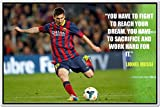 Messi Posters - Lionel Messi - FC Barcelona Sports Poster - Messi Posters for room -Messi Posters Barcelona - Motivational Inspirational football Quotes posters for room - 4