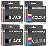 COMBO PACK - Remanufactured Lexmark No.14 & No.15 Ink Cartridges for Lexmark Printers Z2300, Z2310, Z2320, X2600, X2630, X2650 - TWO SETS