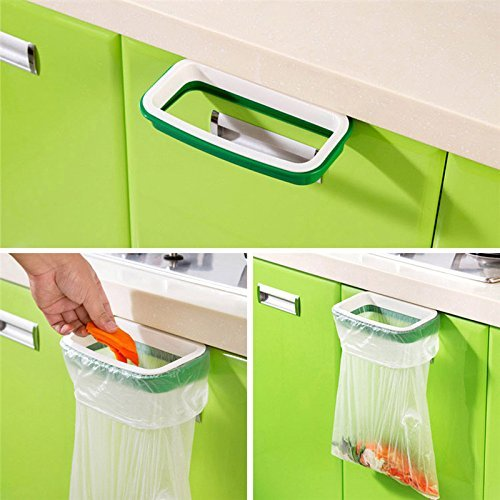 Kitchen Cabinet Door Back Insert Hanging Cupboard Door Stand Garbage Bag Storage Rack Garbage Dust Trash Back Style (Back Rack Insert Rack compare prices)