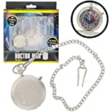 Doctor Who Watch - The Master's Fob Watch - 50th Anniversary Silver Pocket Timepiece - Light Up Dial