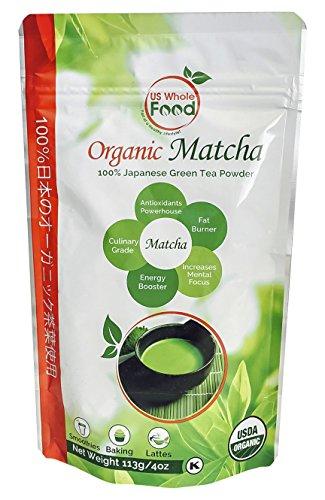 US Whole Food Premium Japanese Matcha Green Tea Powder | 100% USDA Organic |
