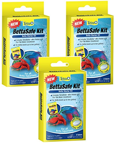 Tetra BettaSafe Kit Tablets - 24 Total Tablets (3 Packs with 8 Per Pack) (Betta Complete Water Conditioner compare prices)
