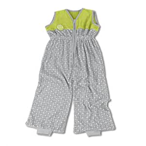 Baby Boum 6-24 Months Tog Jumpsuit cum Sleeping Bag with New Family Member 3D Slogan (Abstract Neutral Grey, Dolby Collection)