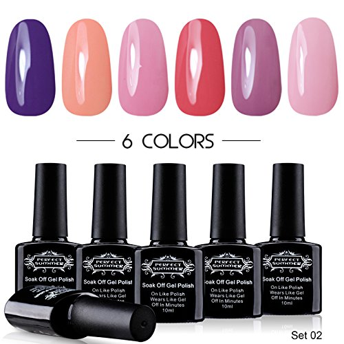 Perfect-Summer-Pro-UV-Gel-Nail-Polish-LED-Perfect-Match-Pastel-Summer-Colors-Collection-10ml-Each-6-bottles