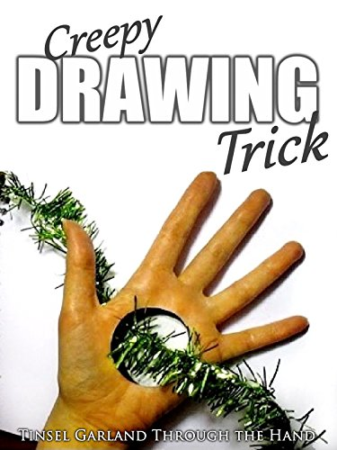Creepy Drawing Trick - Tinsel Garland Through the Hand