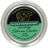 Alaska Smokehouse Wild Smoked Salmon Caviar, 1.75-Ounce Jar  (Pack of 2)
