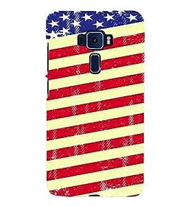 PrintVisa USA Flag Denim Pattern 3D Hard Polycarbonate Designer Back Case Cover for ASUS ZENFONE 3 ZE552KL