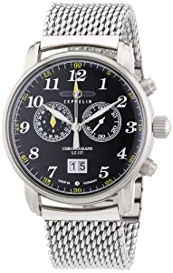 Zeppelin Men's Quartz Watch LZ127 Graf Zeppelin 7686M2 with Metal Strap