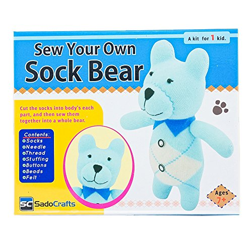 Review Of SadoCrafts Sew Your Own Sock Doll Sewing Craft Kit Sew Stuff Model BEAR