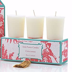 Seda France Votive Candle Set - Chinoiserie