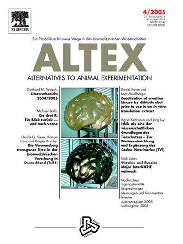 Altex : Alternativen Zu Tierexperimenten - Alternatives to a