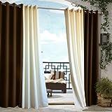 Outdoor decor Gazebo Indoor Outdoor Window Panels, 50 by 96, Chocolate