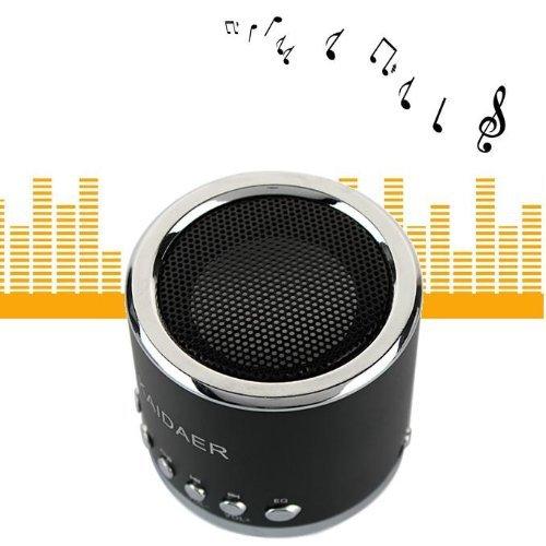 Hsini (Tm)(Black) Kd-Mn02 Portable Mini Music Sd Usb Speaker Fm For Pc Mobile Phone Mp3 Player