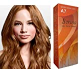 Berina Hair Professional Permanent Hair Color Cream (A 7) Golden Brown Color 1 Pack