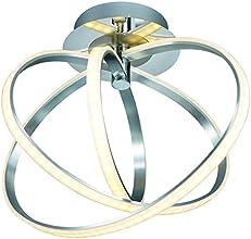 Trio Leuchten LED-Deckenleuchte Corlansd, chrom, Schirm acryl weiß 674312406