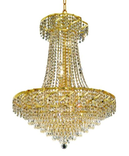 Elegant Lighting Eca4D26G/Rc Belenus 32-Inch High 15-Light Chandelier, Gold Finish With Crystal (Clear) Royal Cut Rc Crystal front-1027611