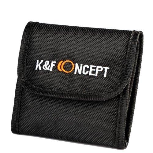 K & F Concept de filtre objectif 3 poches sac Rag Étui pour appareil photo numérique caméscope