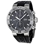 Oris Aquis Chronograph Grey Dial Rubber Mens Watch 01 674 7655 7253-07 4 26 34TEB from Oris