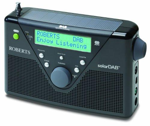 Roberts DAB / FM Digital Solar Radio – Black