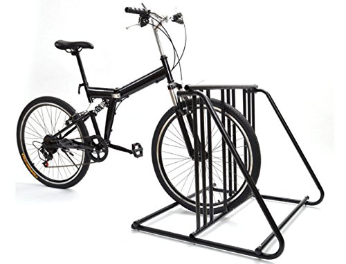 Bike Storage Rack Wall Garage Stand Bikes Outdoor Indoor Paking Brake -6 Bikes Steel Park Stand Black Finish 2/3/4/5 (Motorized Storage Lift compare prices)