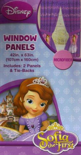 Imagen de Disney Junior Sofia la Primera Princesa Cortinas Paneles Cortinas, Juego de 2