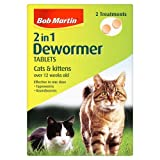 Bob Martin 2-in-1 Dewormer Tablets for Cats and Kittens