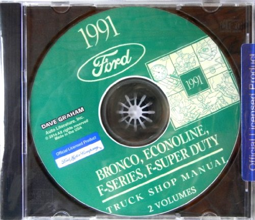1991 FORD TRUCK, PICKUP & VAN FACTORY REPAIR SHOP & SERVICE MANUAL CD - INCLUDES Bronco, F-150, F-250, F350, Econoline E-150, E-250, E-350, F-Super Duty -COVERS Engine, Body, Chassis & Electrical. 91 (F150 Radiator Cover compare prices)