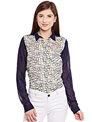 PURYS Navy & Yellow Patch Print Shirt - Large