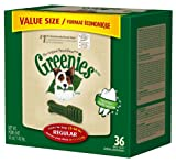 GREENIES Dental Chews Value Tub Treat for Dogs, 36oz Regular