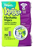 Pampers Kandoo Flushable Toilet Wipes, Magic Melon, 250 Count Refills (Pack of 4) Baby, NewBorn, Children, Kid, Infant