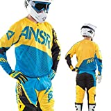 Answer Motocross Jersey - ALPHA AIR - blau-gelb: Größe Jersey: