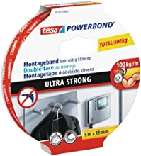 tesa doppelseitiges Montageband ULTRA STRONG, 5m x 19mm