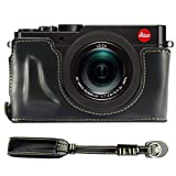 No1accessory XJPT-TYP109-D01 ブラック Leica D-LUX (Typ 109) 専用 防水 PU レザー 一眼レフ カメラバッグ カメラケース ハンドストラップ + カメラストラップ