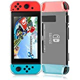 Nintendo Switch Cover Case, LinkStyle Crystal Clear Hard Back Cover Protector Shock Absorption Anti Scratch for Nintendo Switch