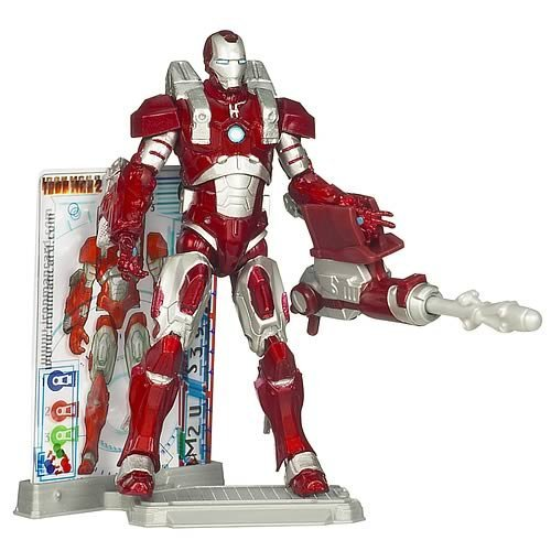 Iron Man Inferno Mission Armor - 3 Armor Cards & Figure Stand Included! - 1