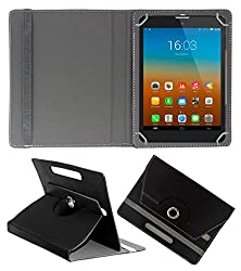 ACM ROT8B0153 Acm Rotating 360° Leather Flip Case For D-Link D100 Tab Tablet Stand Cover Holder Black
