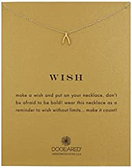 "Dogeared ""Reminder"" Wishbone Gold Cha…"