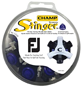 Champ Footjoy Stinger Spikes 18 Pieces Tri-Lok Golf Noir/Blanc