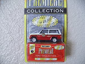 Matchbox Jeep Cherokee Fire Chief Premiere Edition Series 7